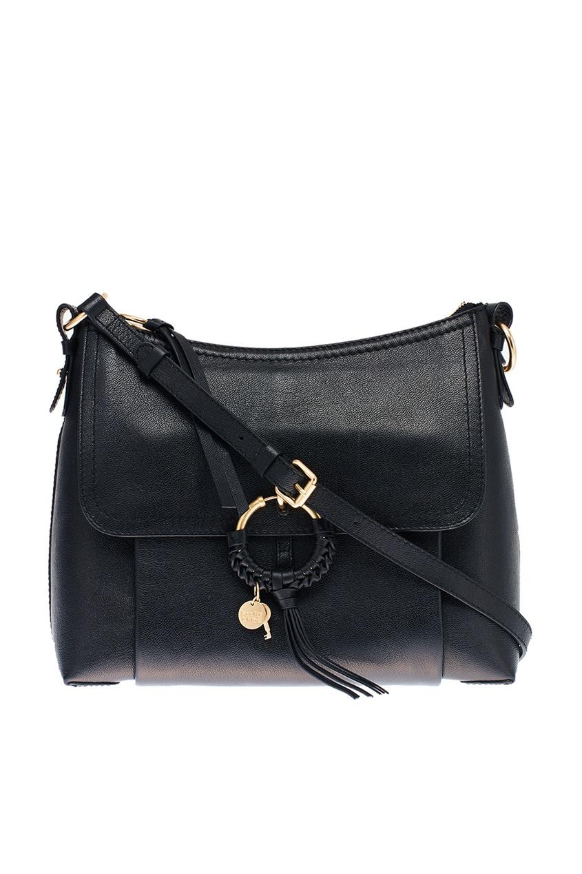 See By Chloé Черная кожаная сумка Joan see by chloé рюкзак