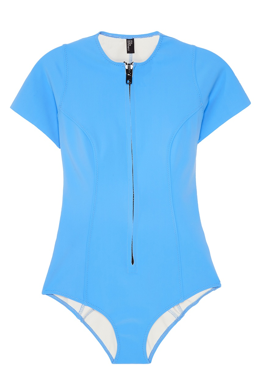 Lisa Marie Fernandez Голубой купальник с молнией lisa marie fernandez короткое платье