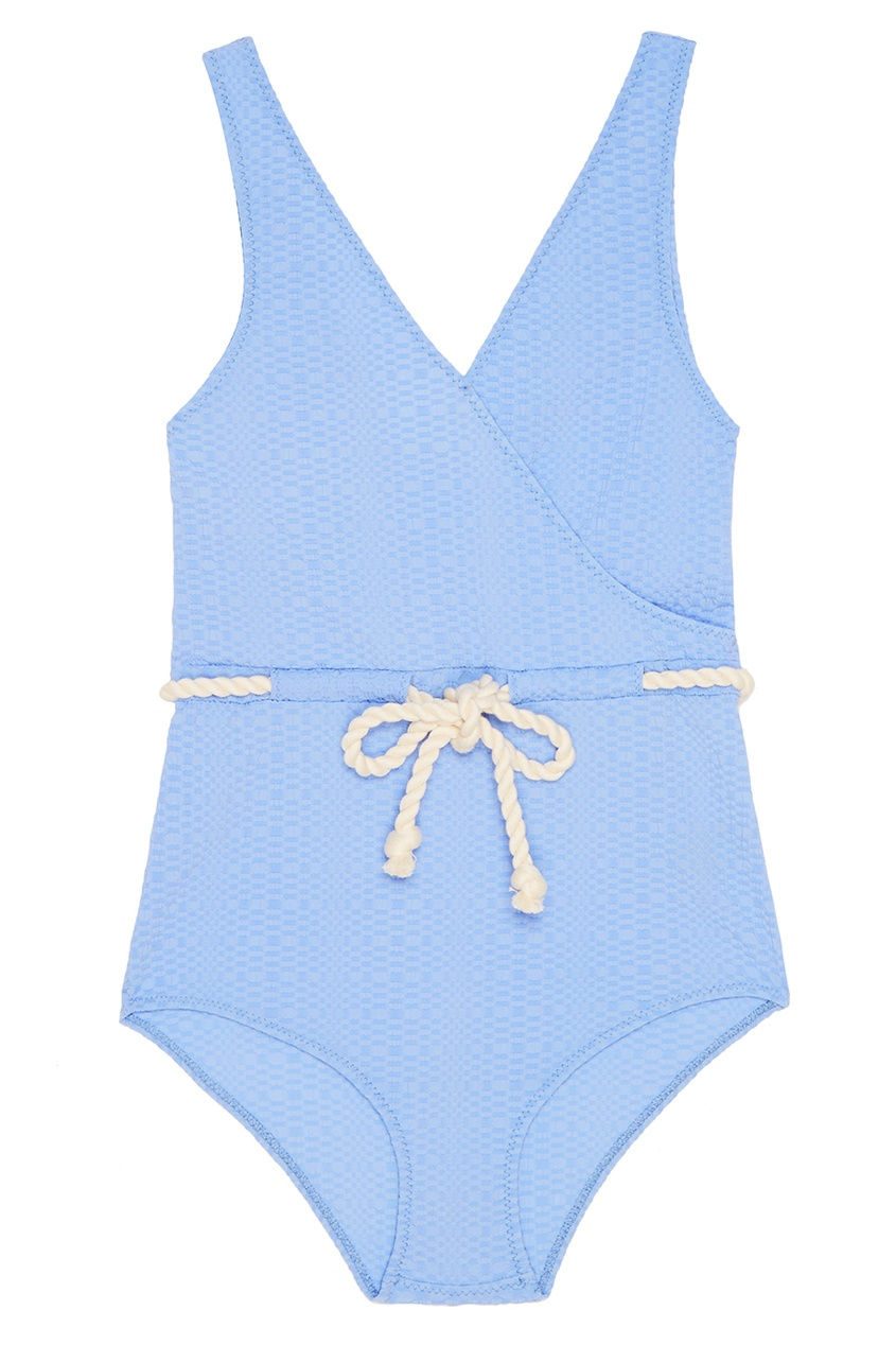 Lisa Marie Fernandez Слитный купальник голубого цвета lisa marie fernandez короткое платье