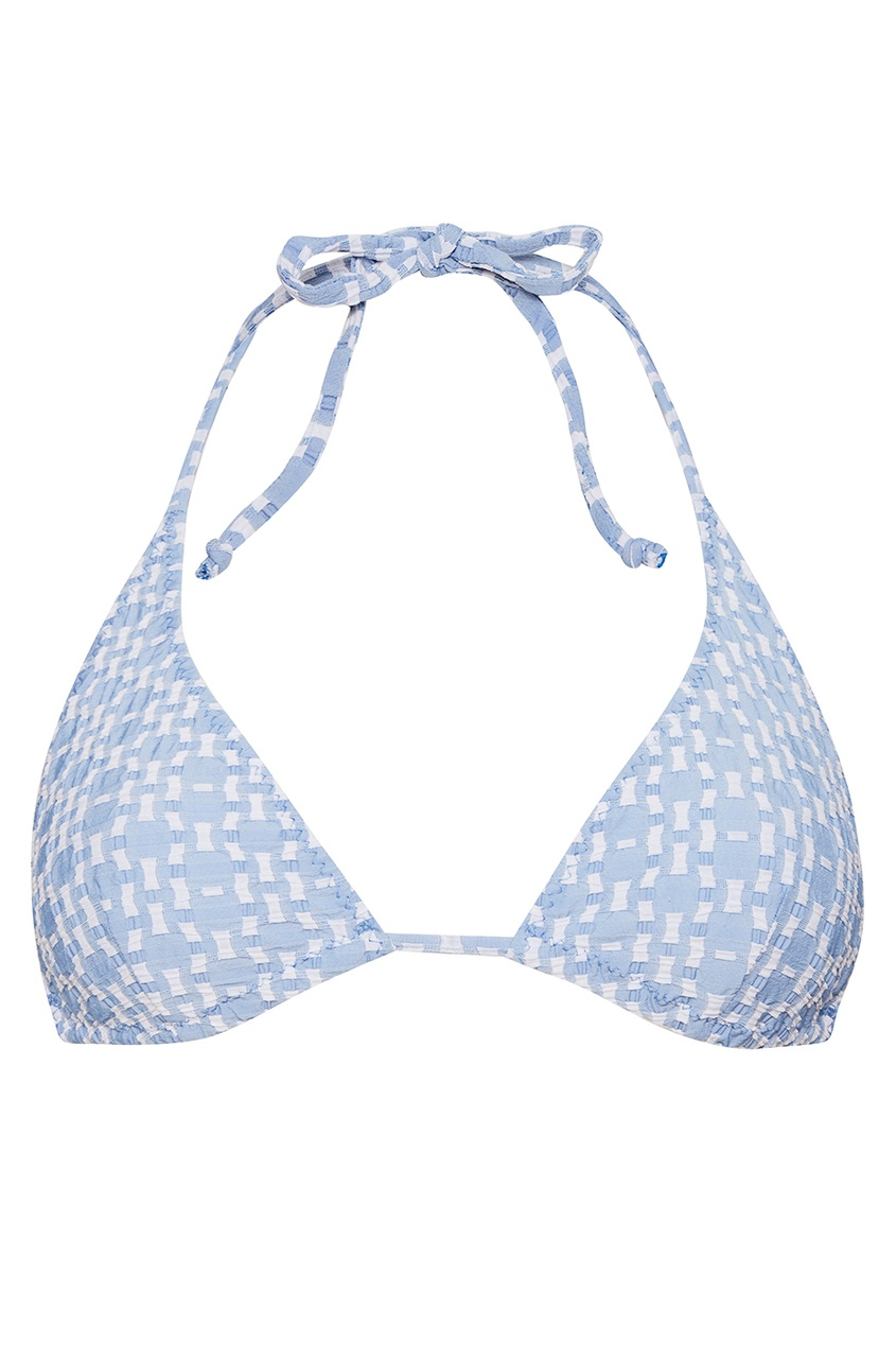 Lisa Marie Fernandez Раздельный купальник голубого цвета lisa marie fernandez короткое платье