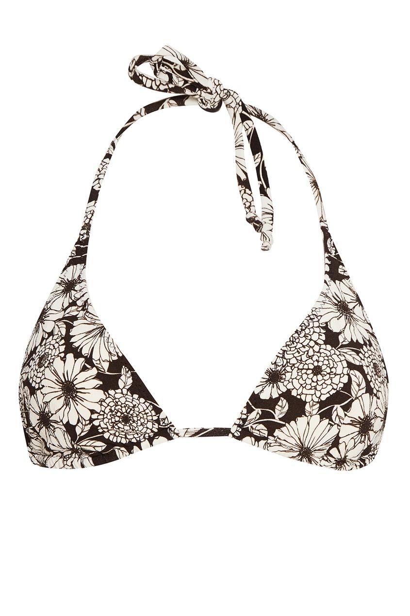 Lisa Marie Fernandez Черный раздельный купальник с цветами lisa marie fernandez короткое платье