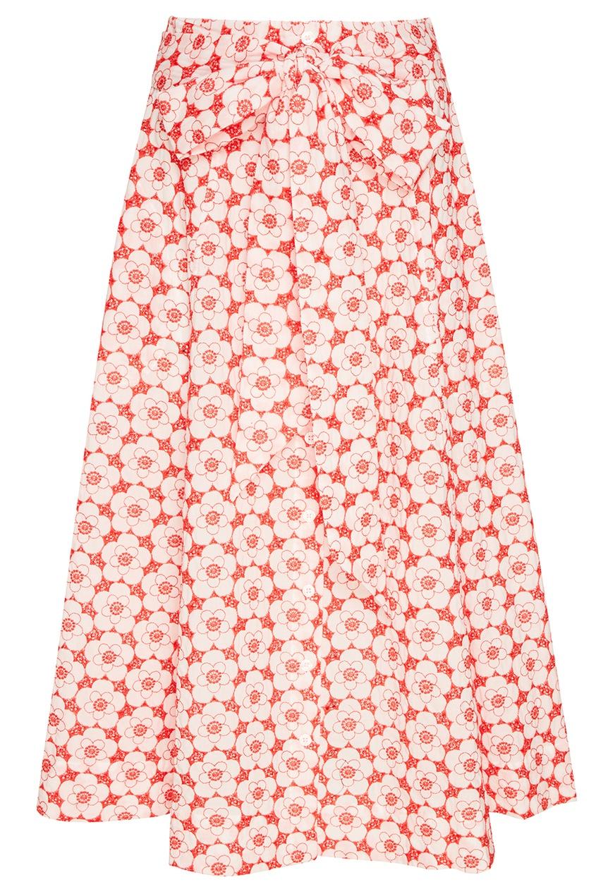 Lisa Marie Fernandez Красная юбка из вышитого хлопка lisa corti короткое платье
