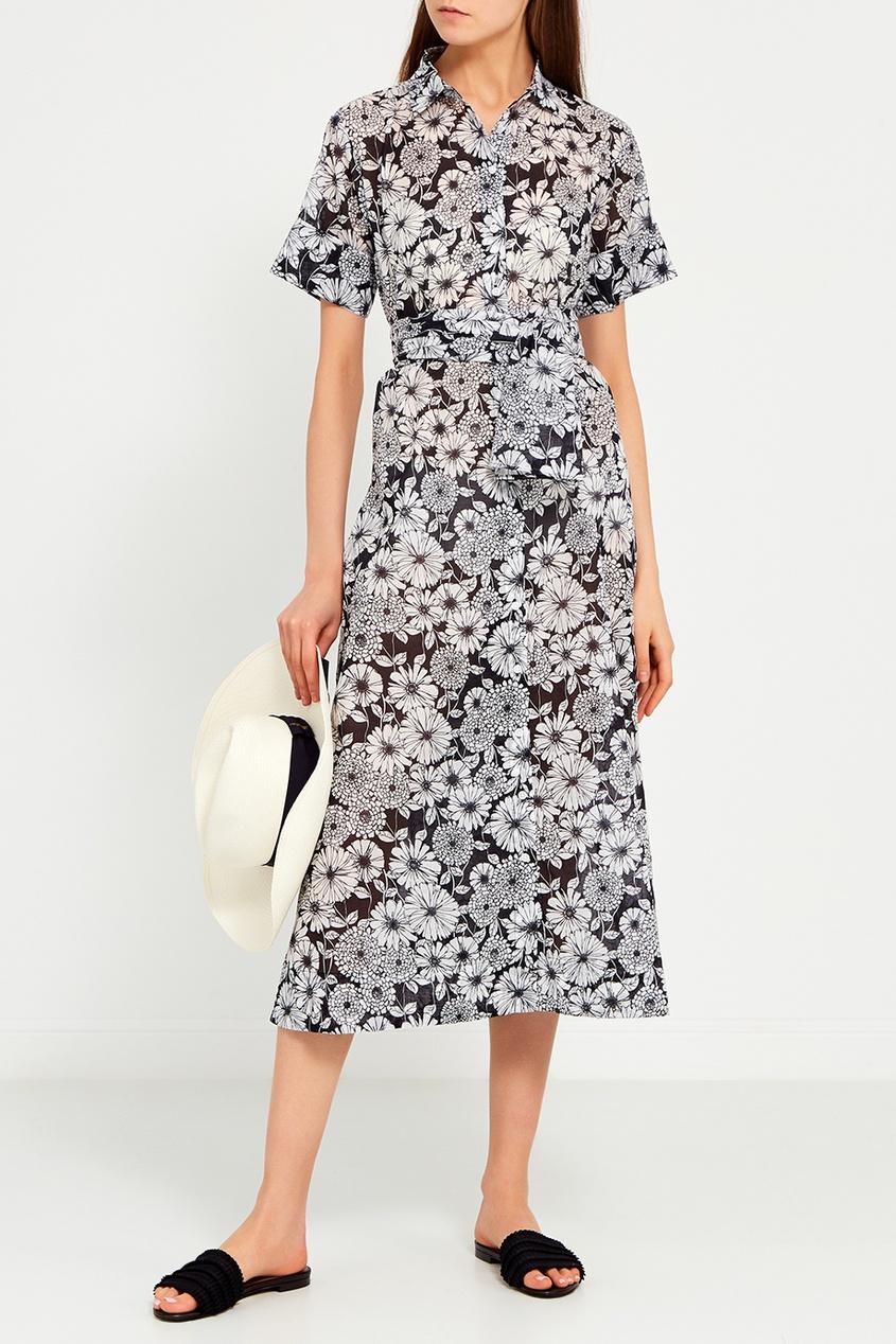 Lisa Marie Fernandez Хлопковое платье-рубашка с цветами lisa corti сандалии
