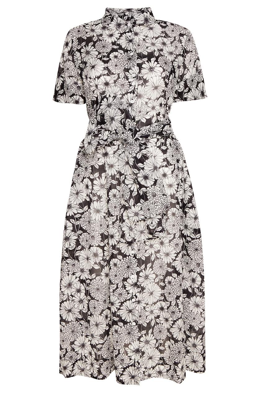 Lisa Marie Fernandez Хлопковое платье-рубашка с цветами lisa marie fernandez короткое платье