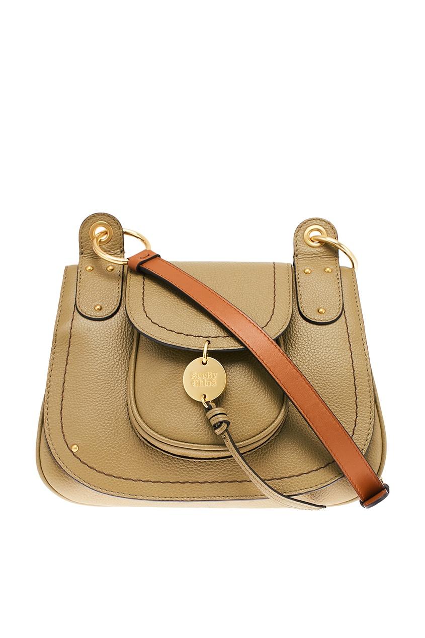 Зеленая кожаная сумка Medium Susie See by Chloe