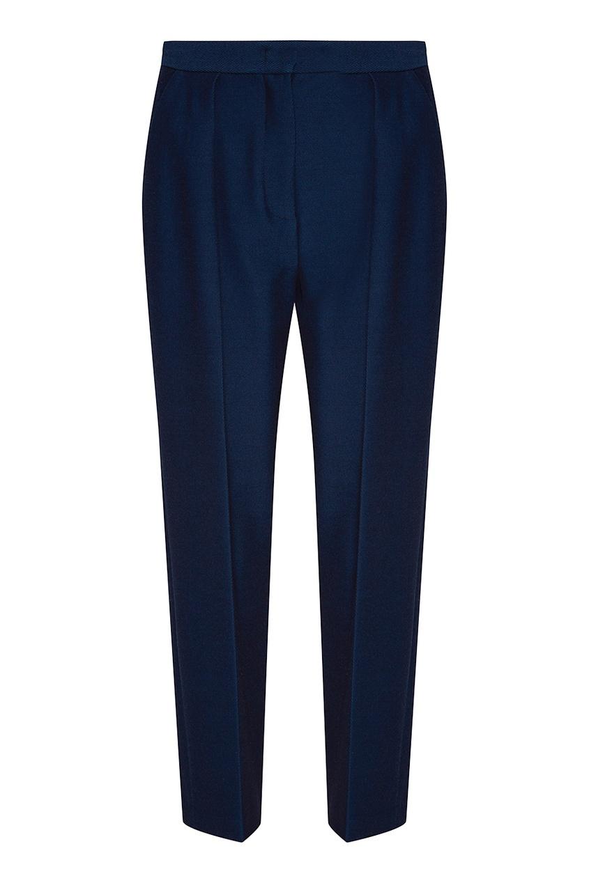 Синие брюки со складками