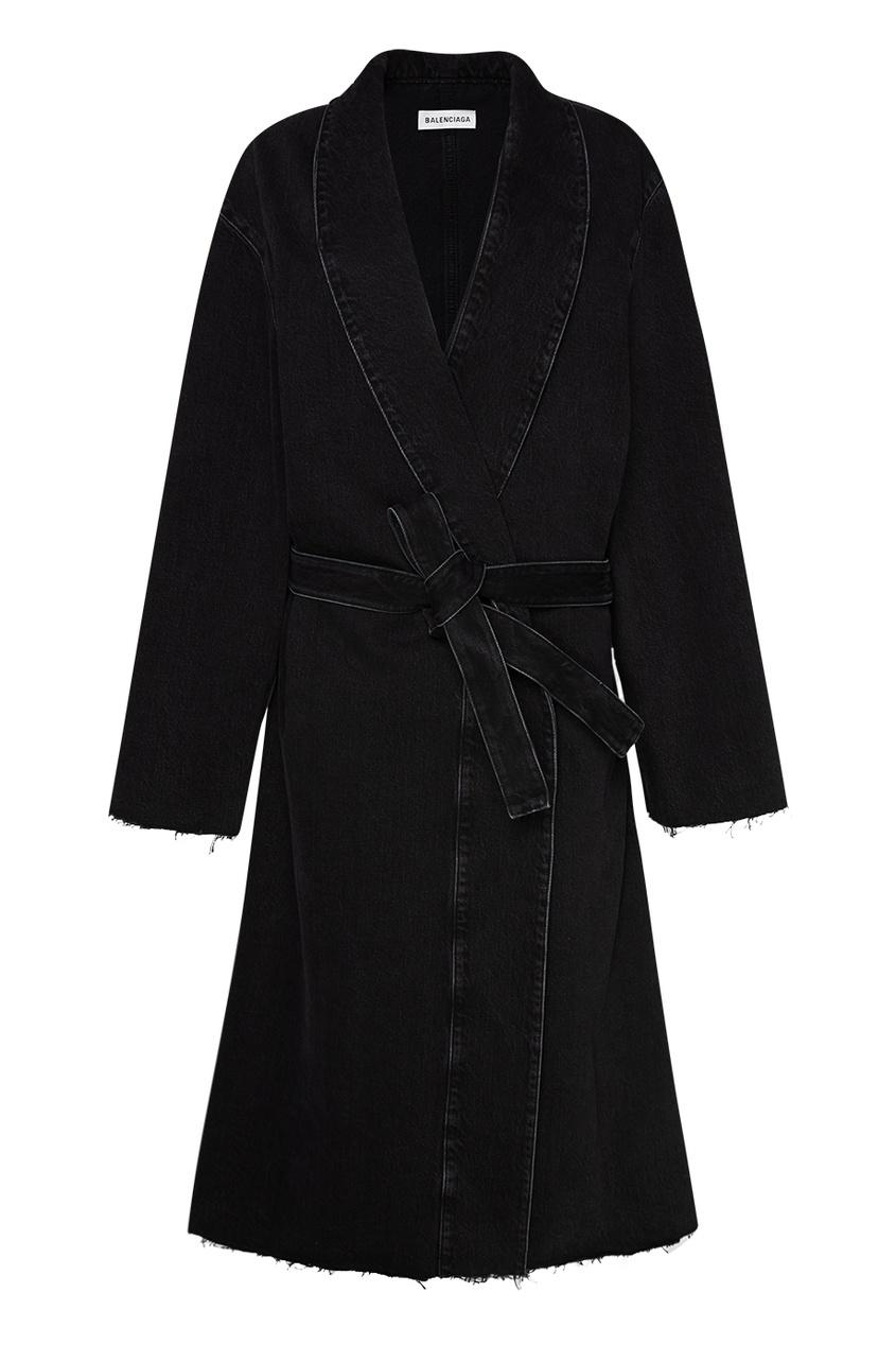 Balenciaga Пальто из черного денима
