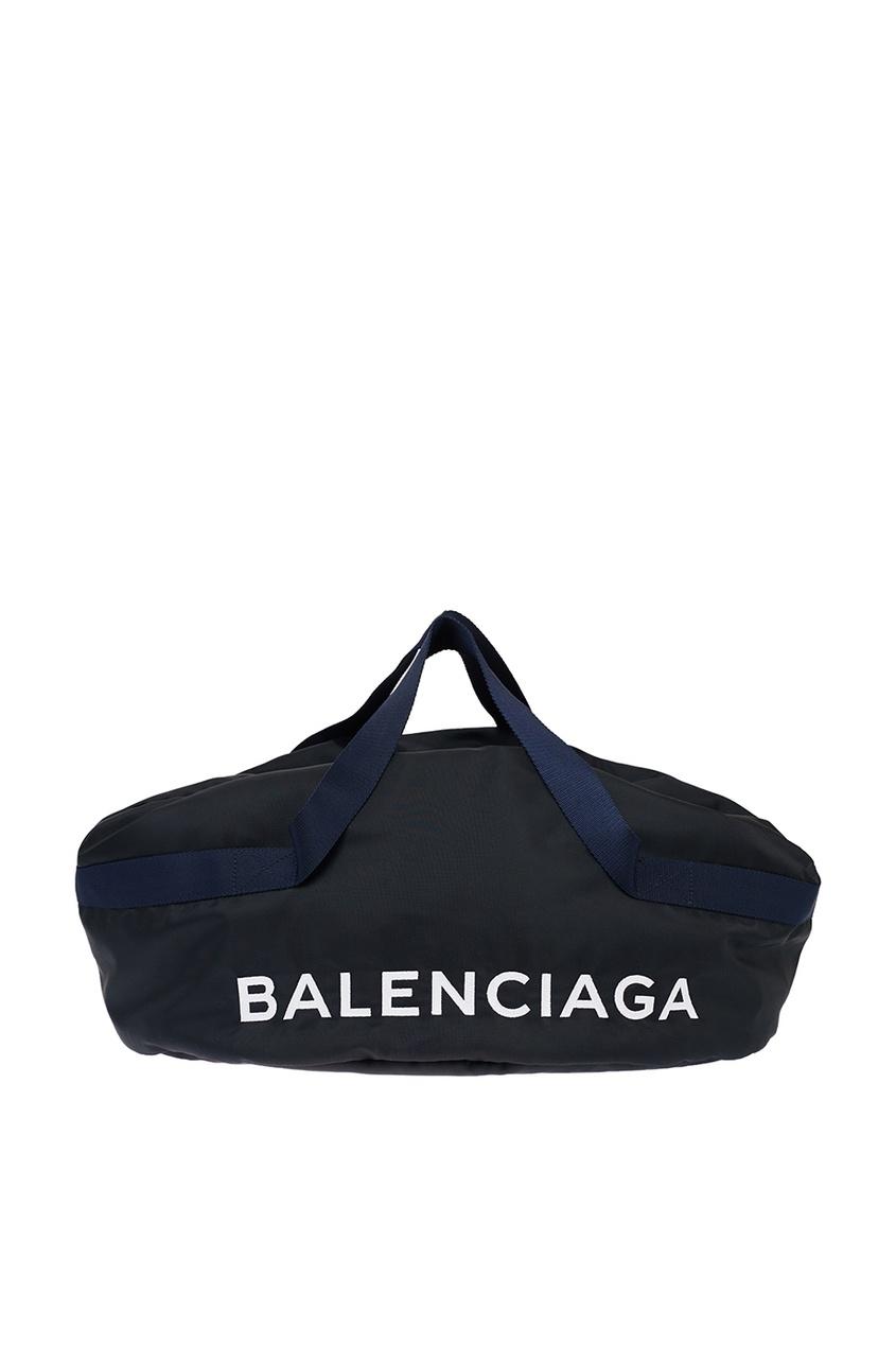 Balenciaga Синяя сумка с логотипом Wheel сумка balenciaga mini