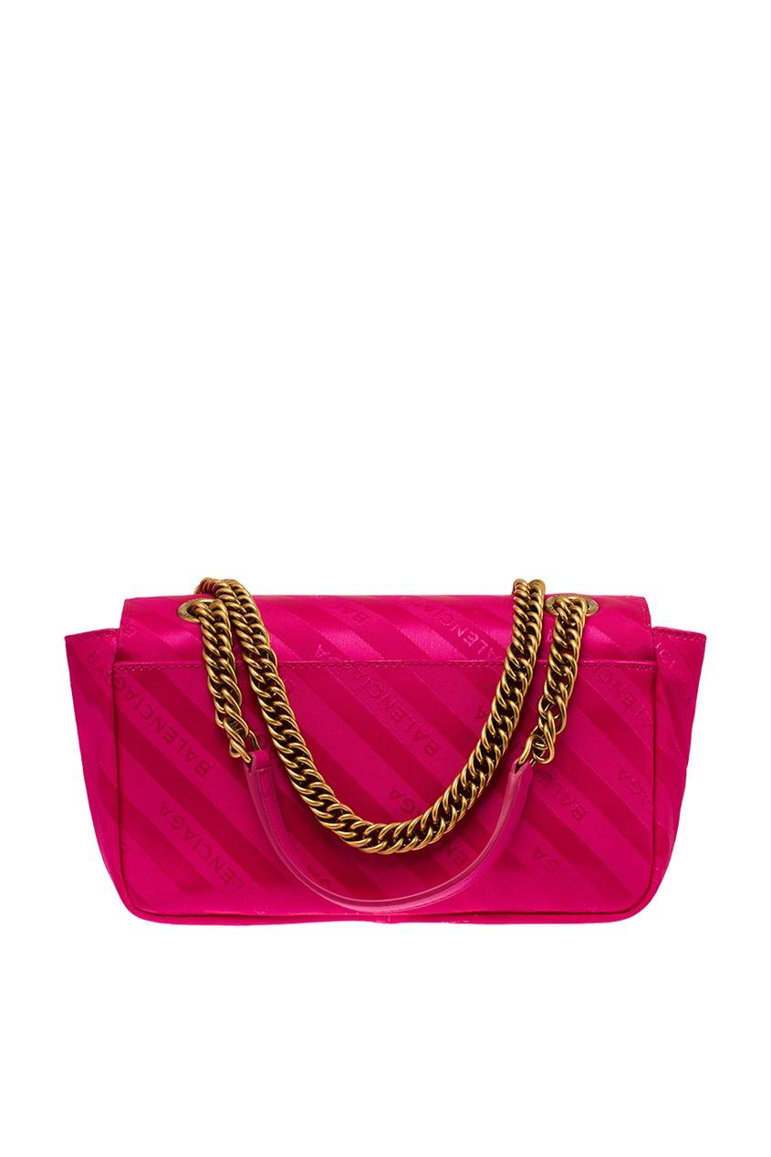 женская сумка balenciaga, розовая