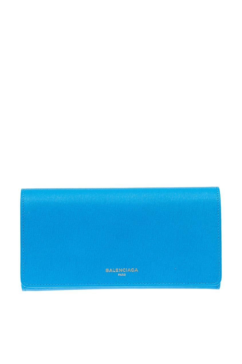 цена на Balenciaga Голубой кожаный кошелек Continental