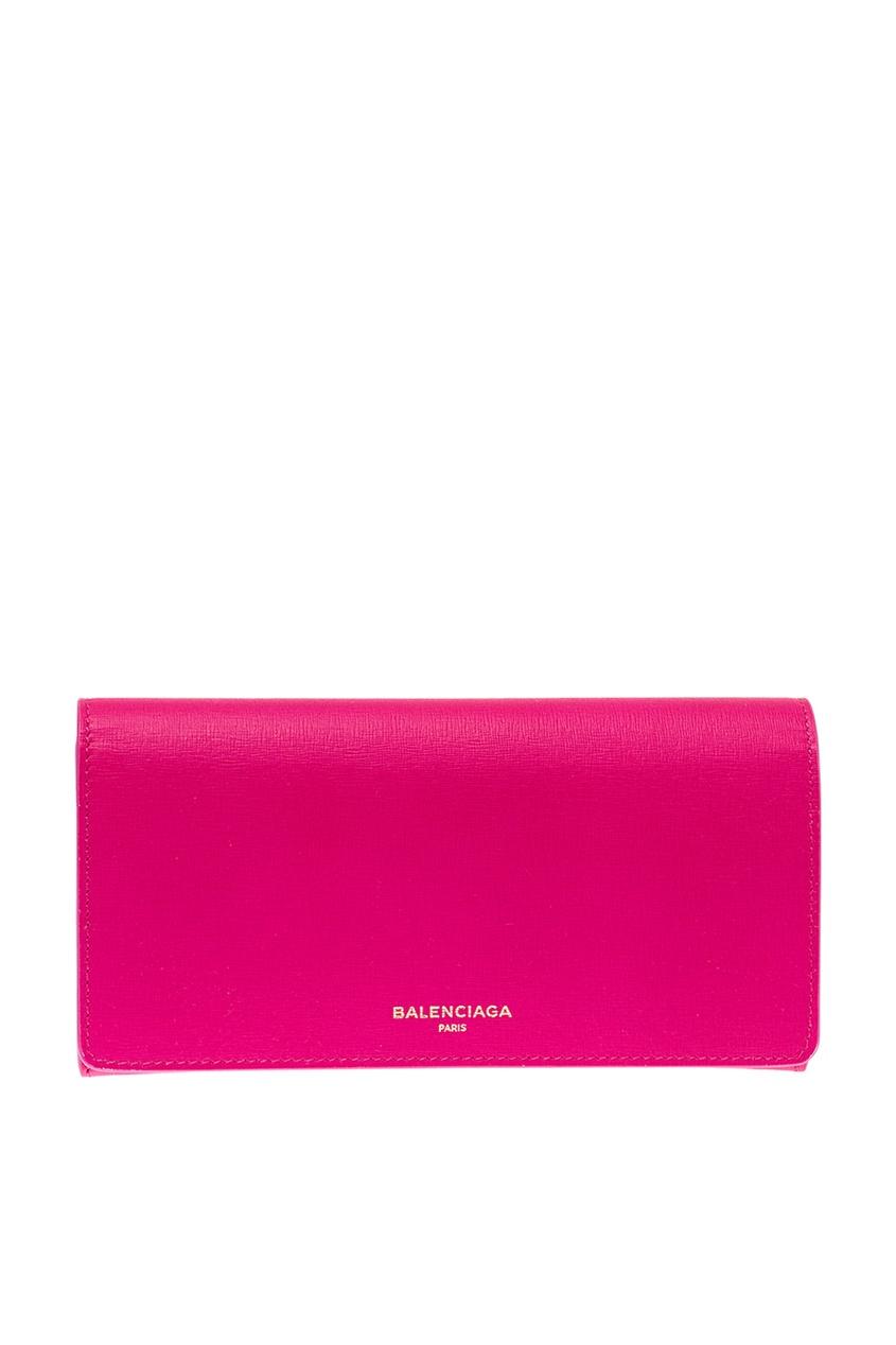 женский кошелёк balenciaga, розовый