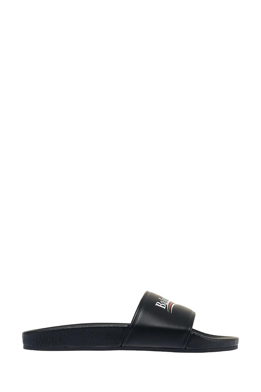Balenciaga Кожаные сандалии с логотипом