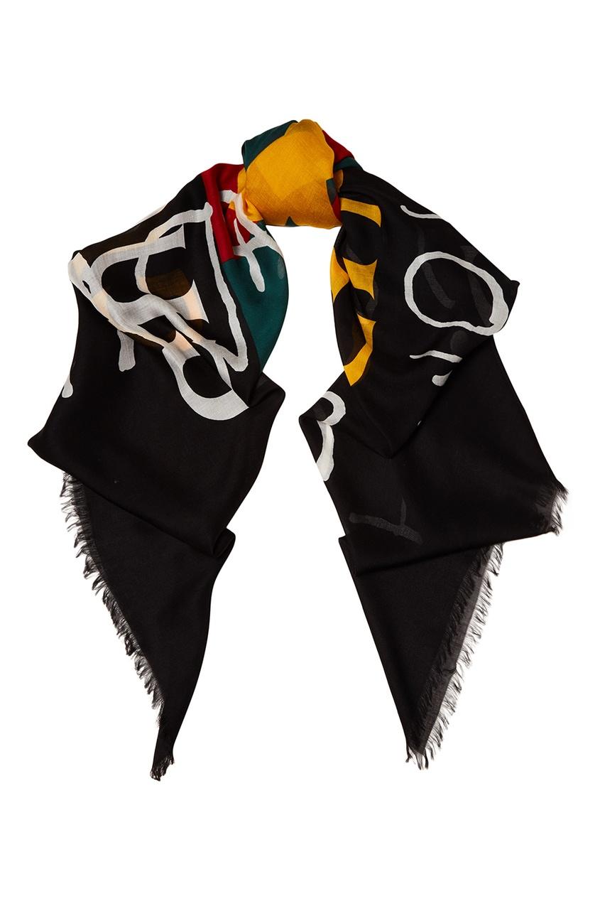 Шелковый платок с принтом Coco Capitan
