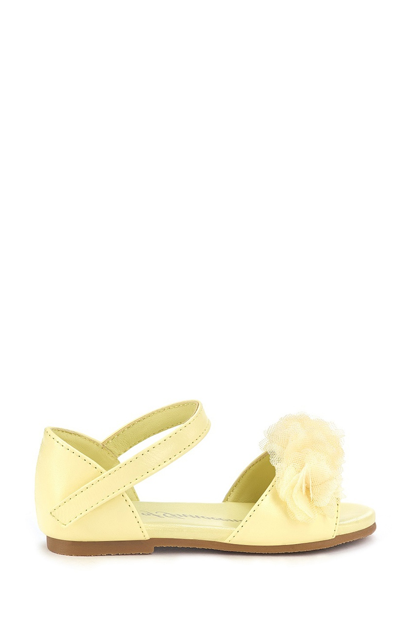 Желтые сандалии с декором Olivia
