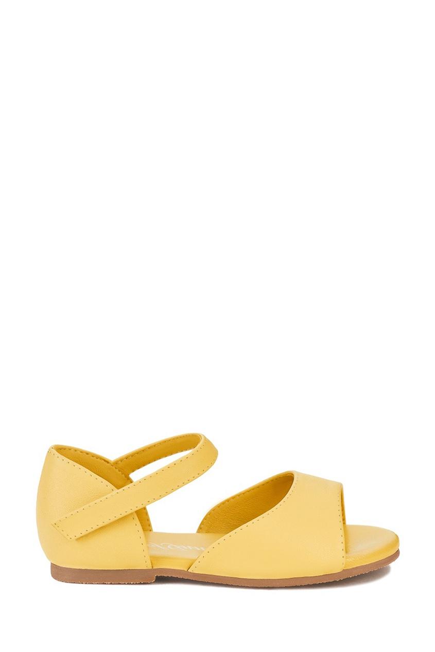 Желтые кожаные сандалии Marta