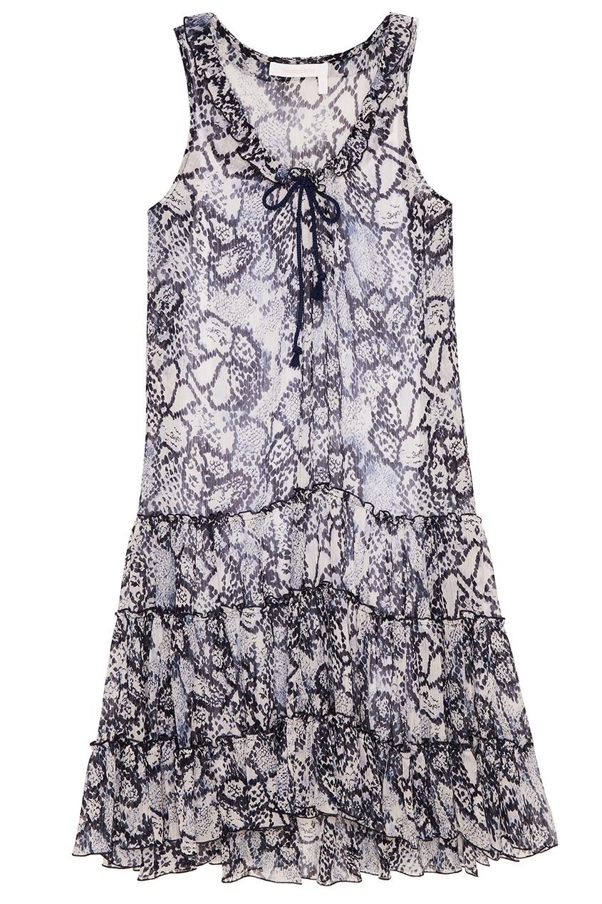 See By Chloé Платье с воланами платье с зернистым рисунком chloé