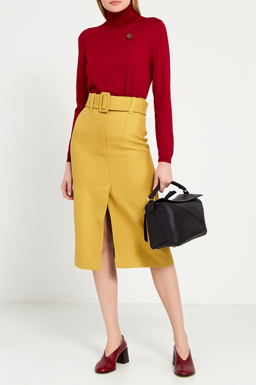 цена I Am  Studio Шерстяная юбка-карандаш с поясом онлайн в 2017 году