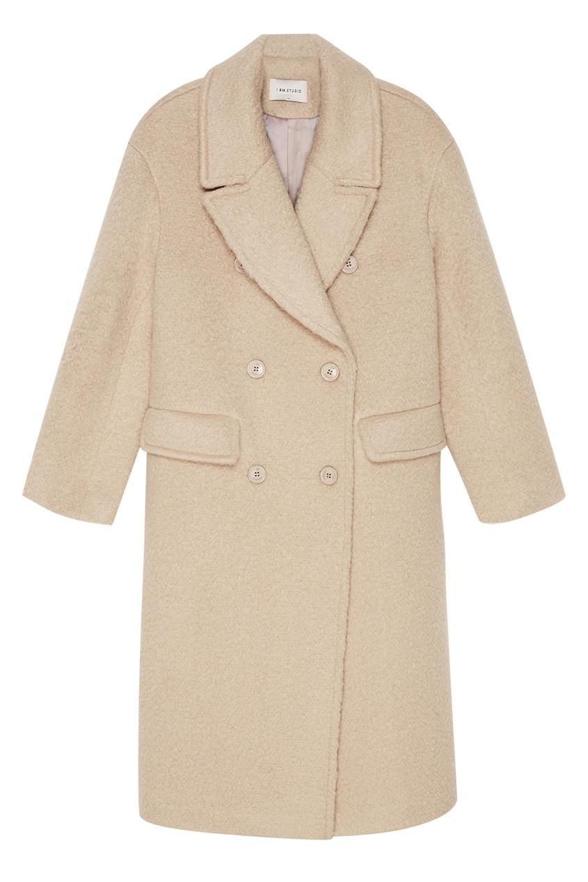 I Am  Studio Серое двубортное пальто