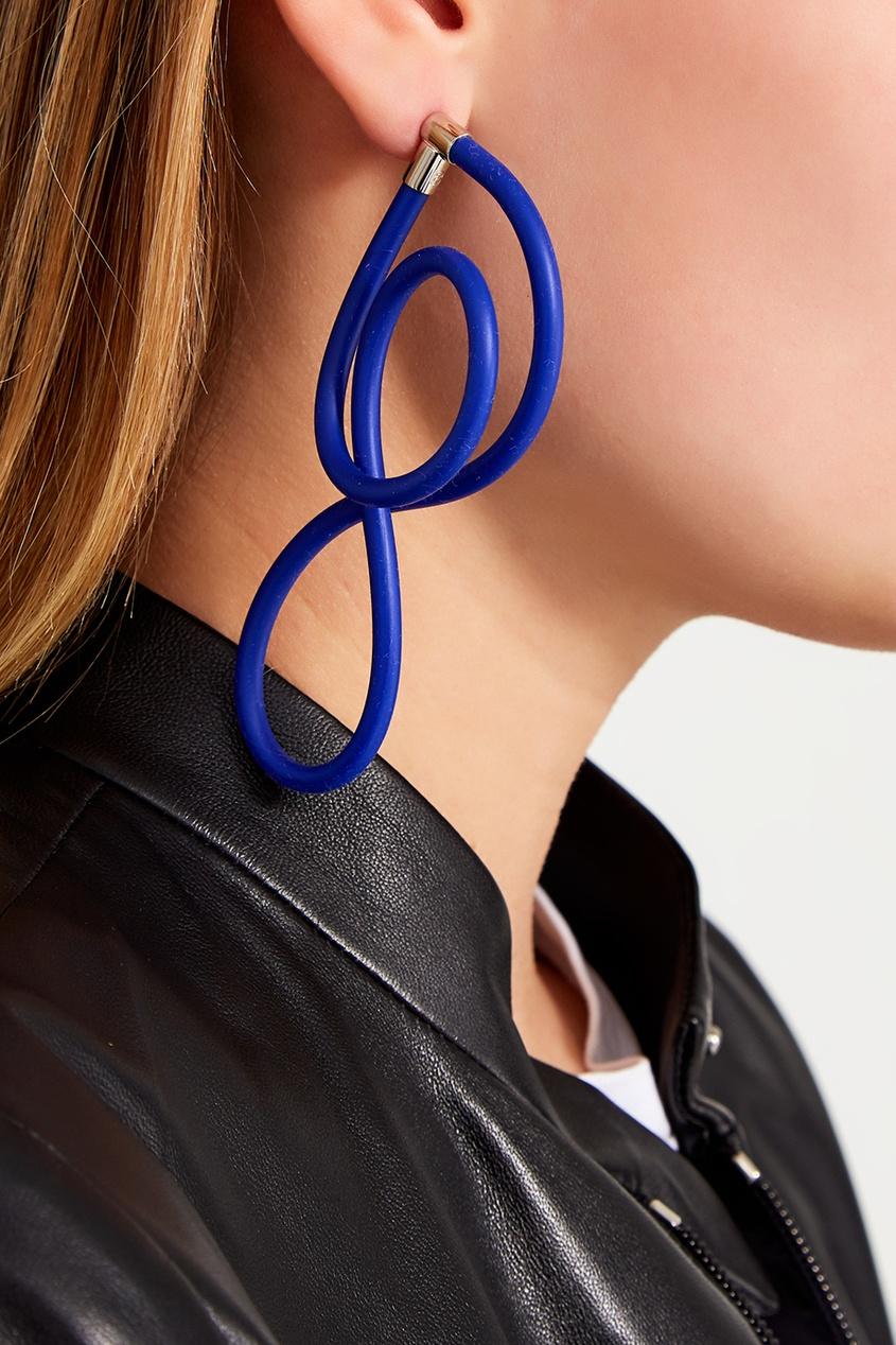Синие серьги Elastic Magnet