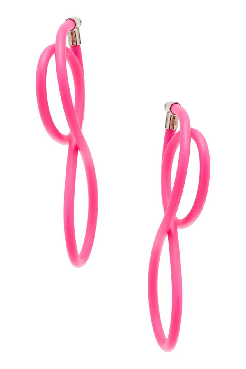 Розовые серьги Elastic Magnet