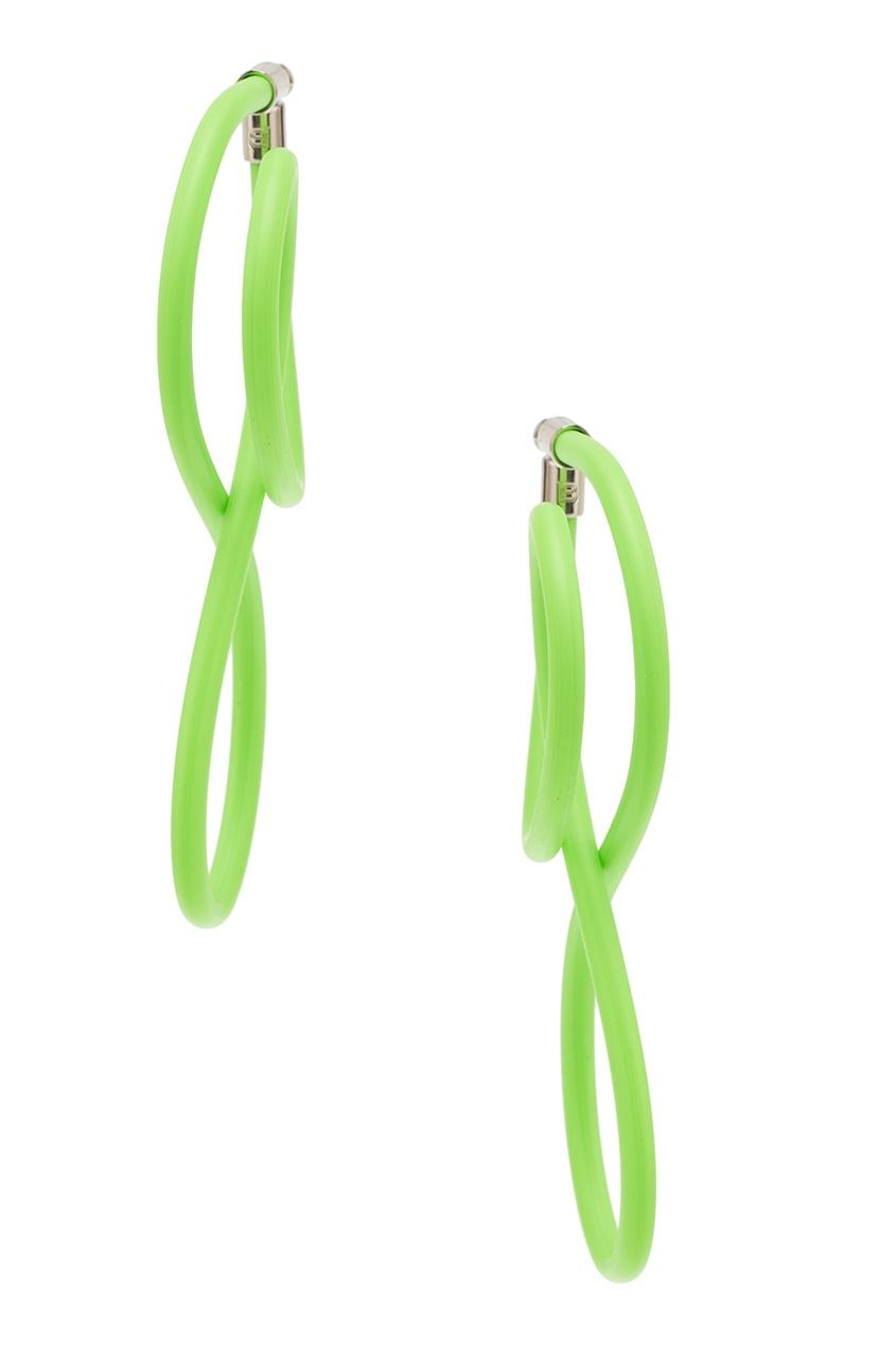 Balenciaga Зеленые серьги Elastic Magnet
