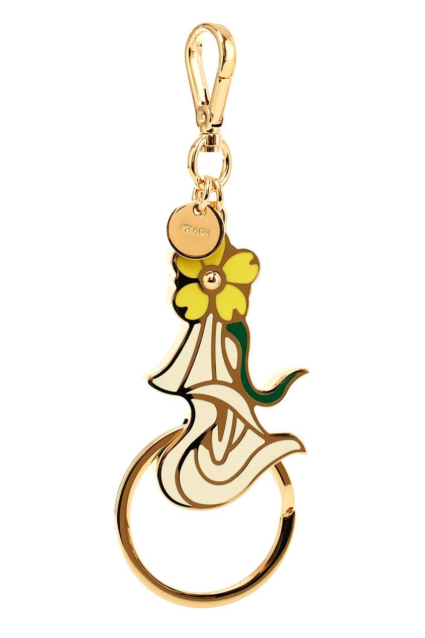 Prada Брелок для ключей с цветком брелок для машины рено