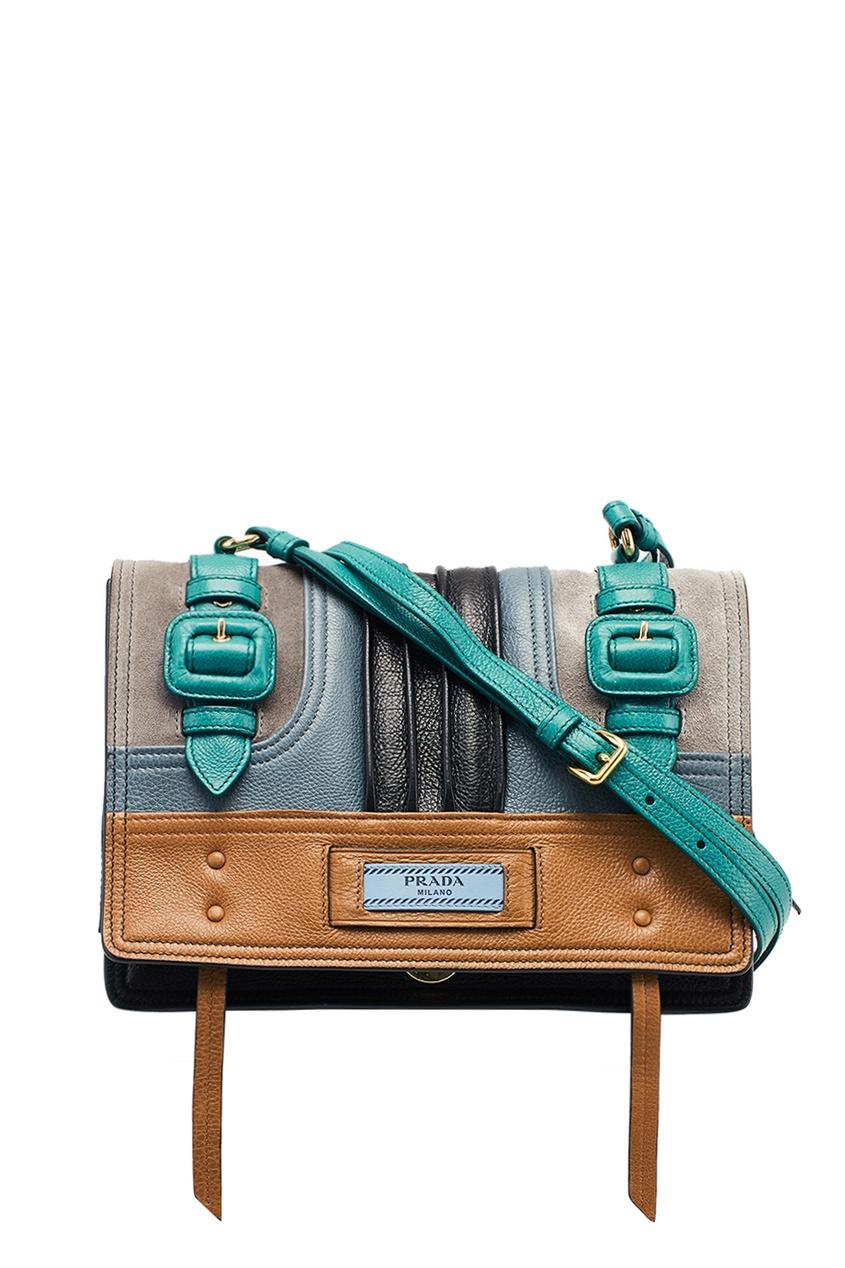 Prada Комбинированная сумка из кожи Etiquette