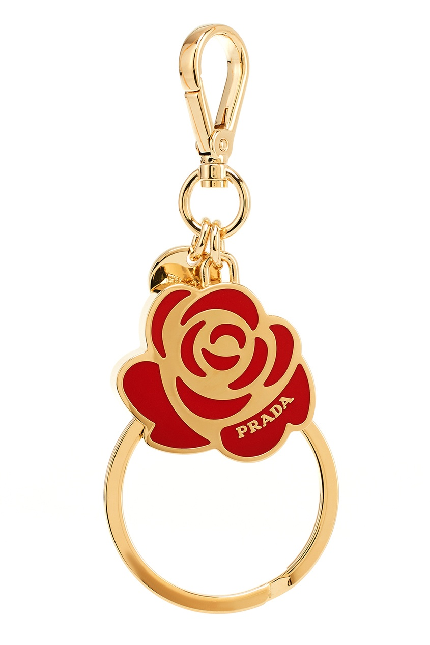 Prada Кольцо для ключей розой prada брелок для ключей