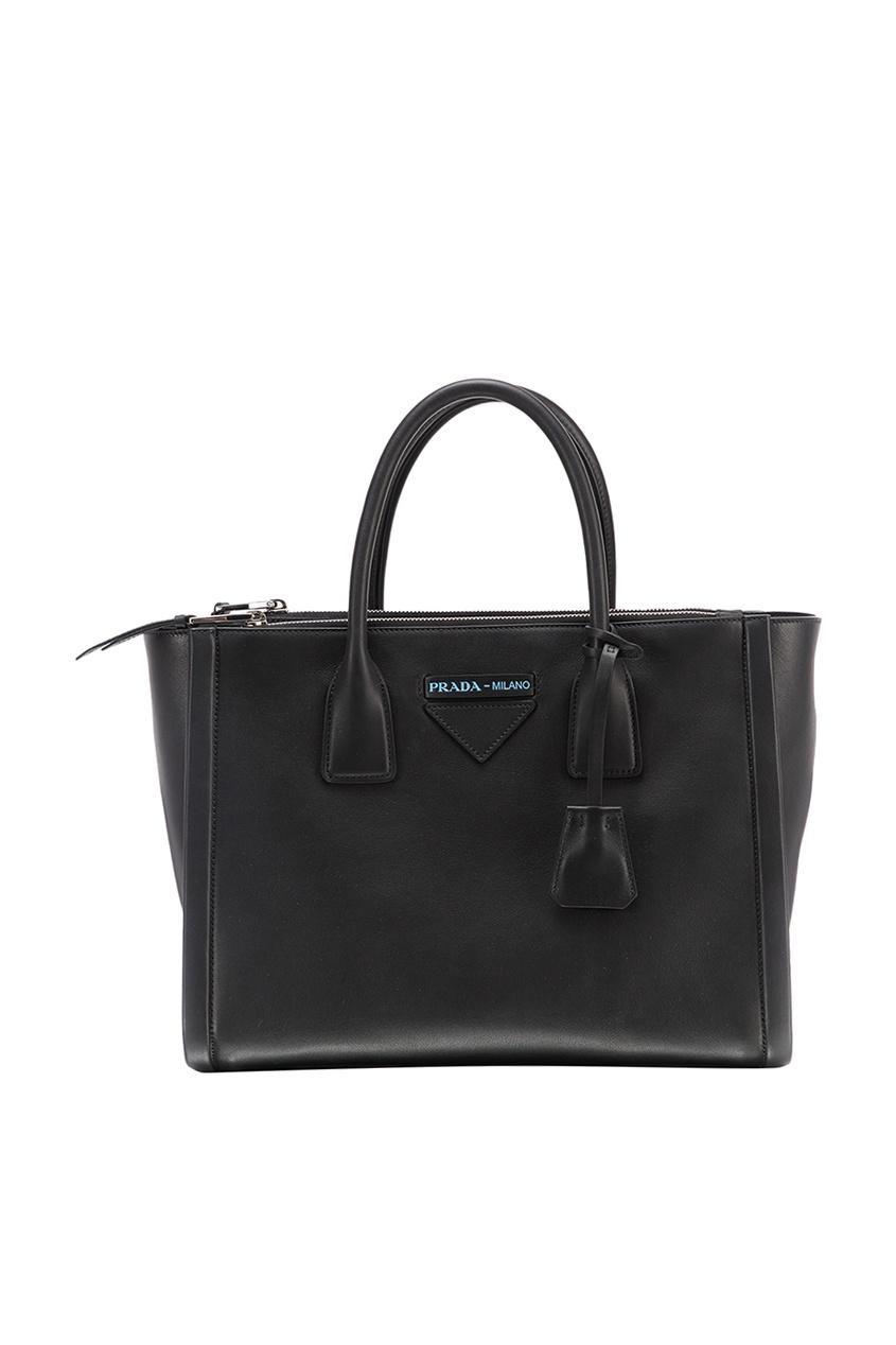 Черная кожаная сумка Concept