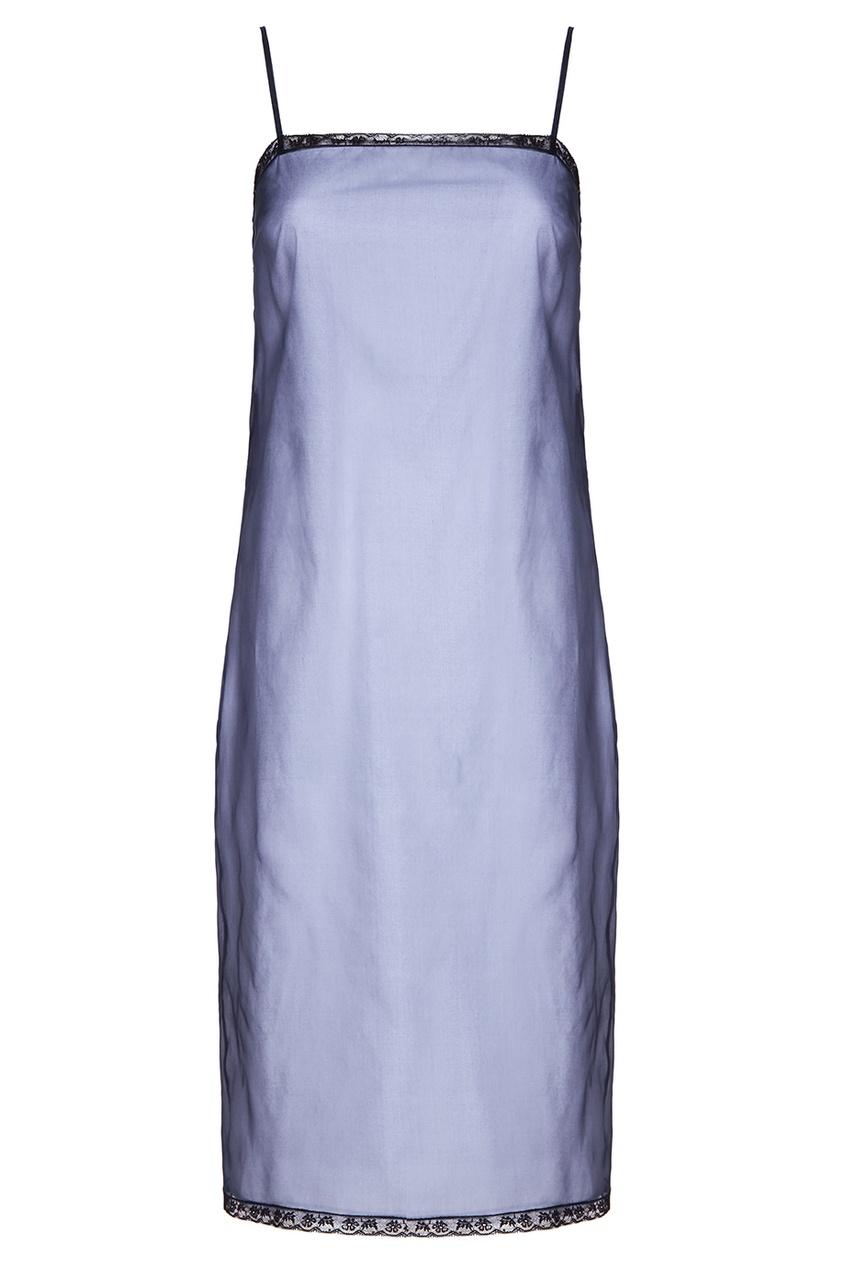 Prada Двойное платье-комбинация из шелка anais gillian комбинация