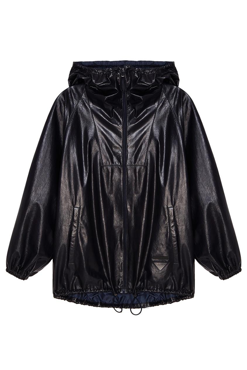 Купить Синяя кожаная куртка от Prada синего цвета
