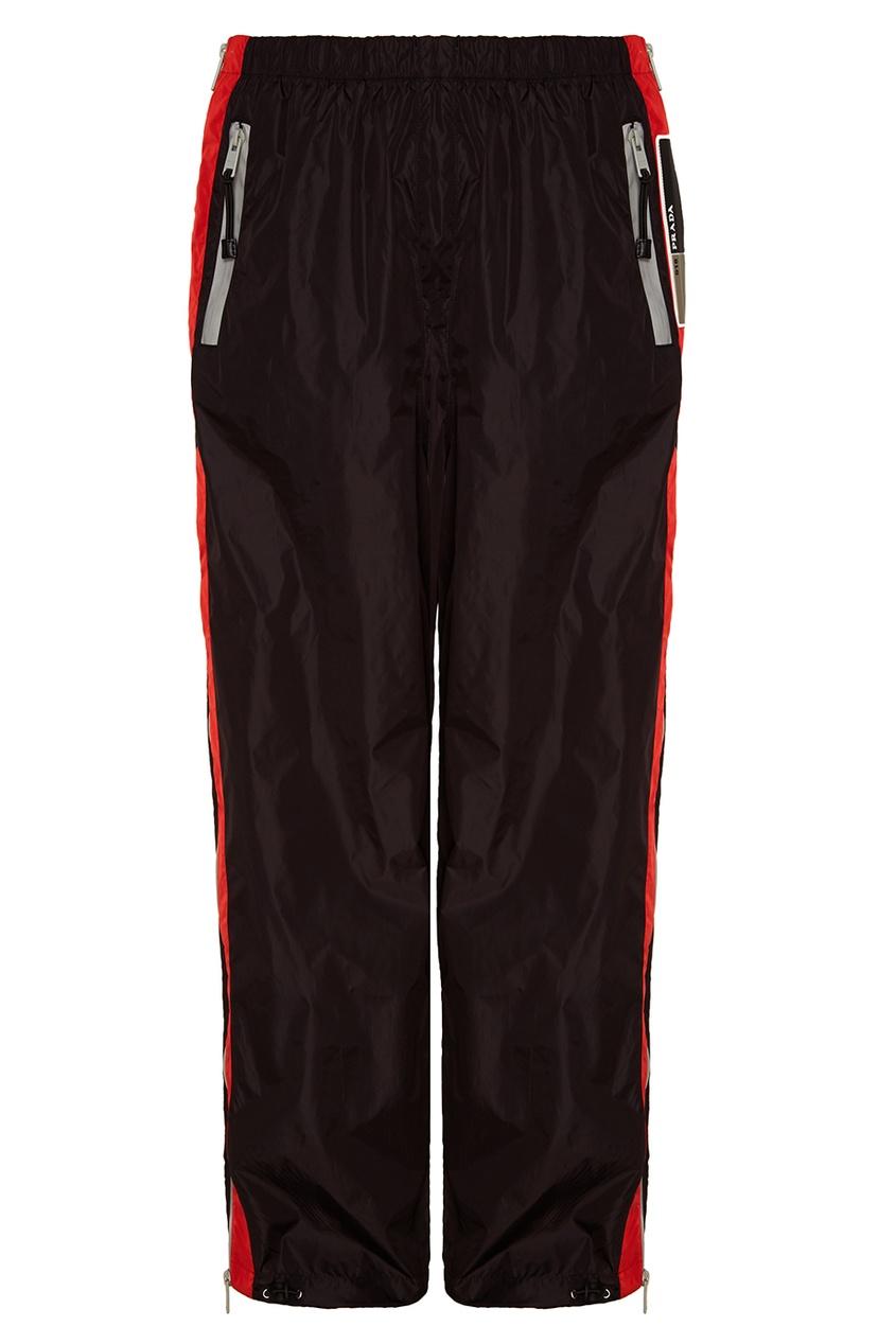 Prada Черные брюки с лампасами