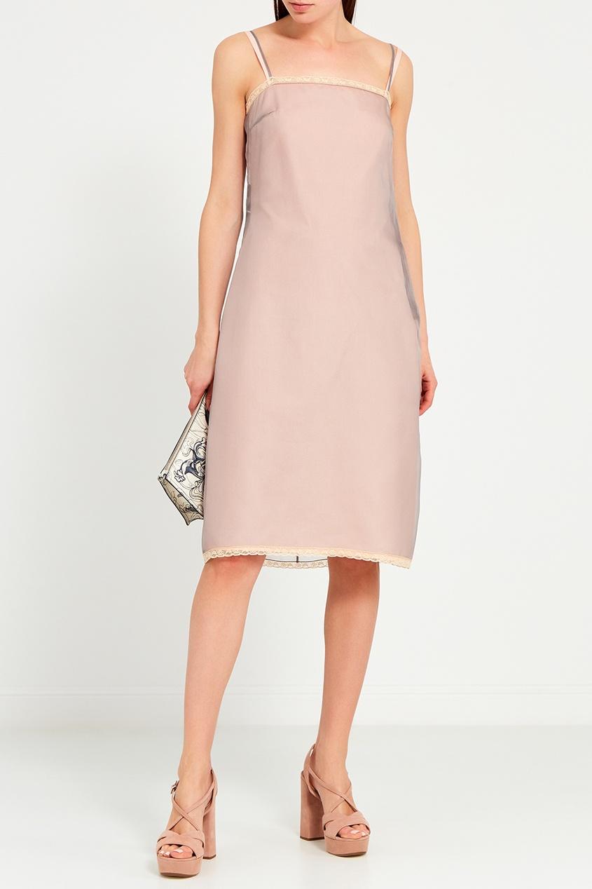 Двойное платье-комбинация из шелка