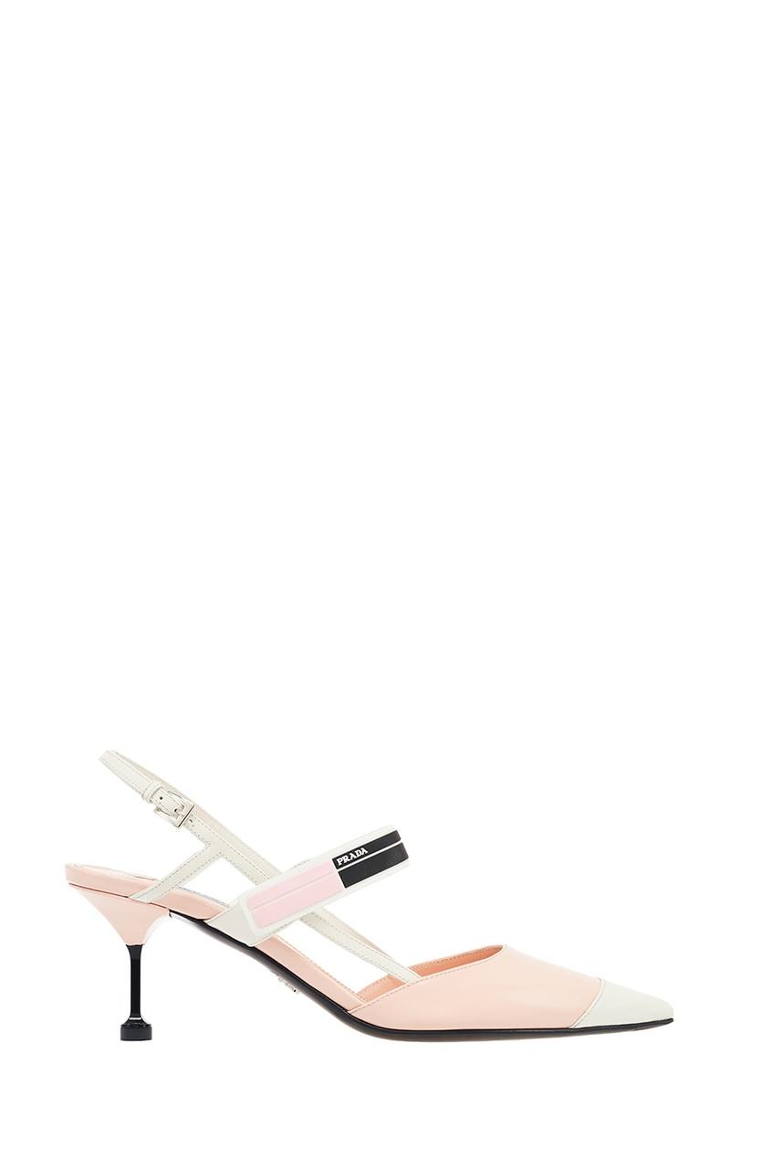 Prada Розовые лакированные туфли с логотипом