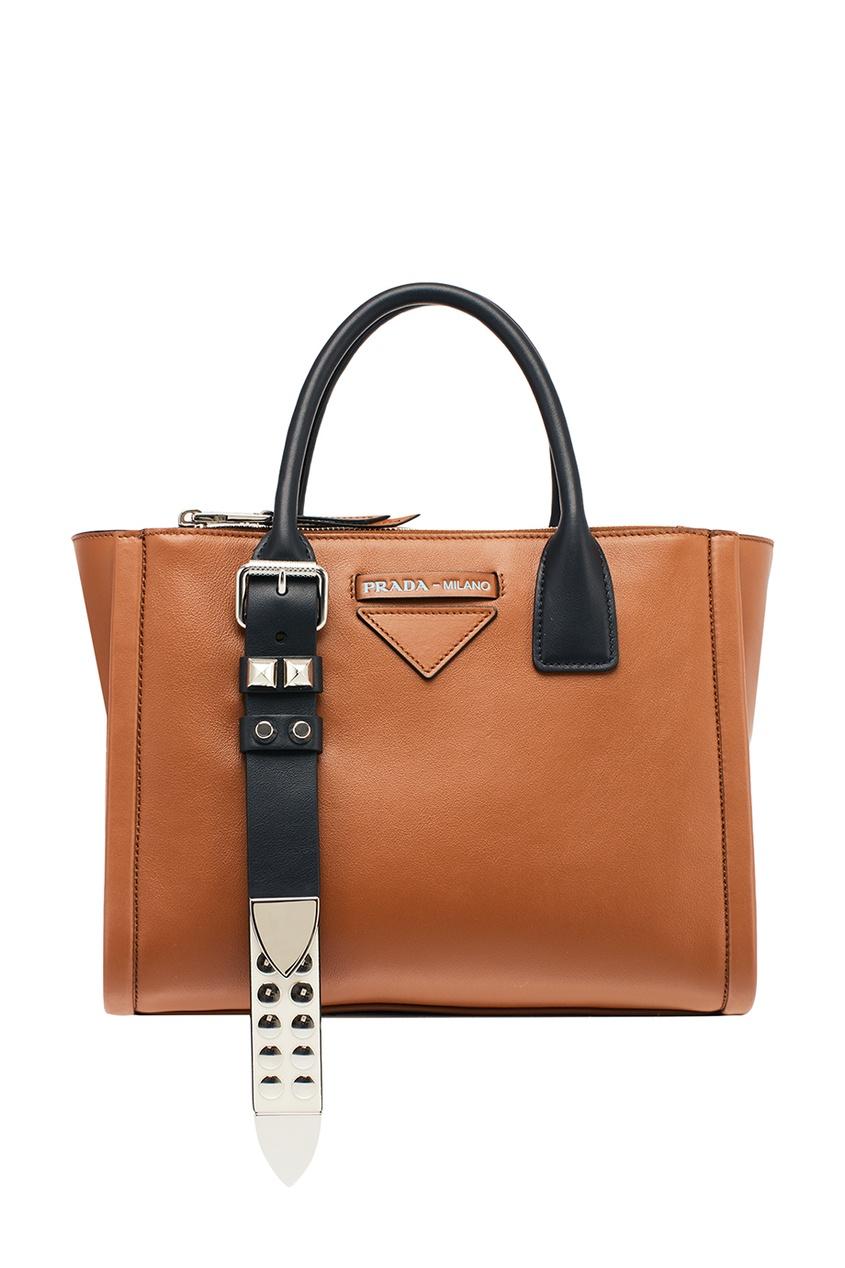 Prada Коричневая кожаная сумка Concept