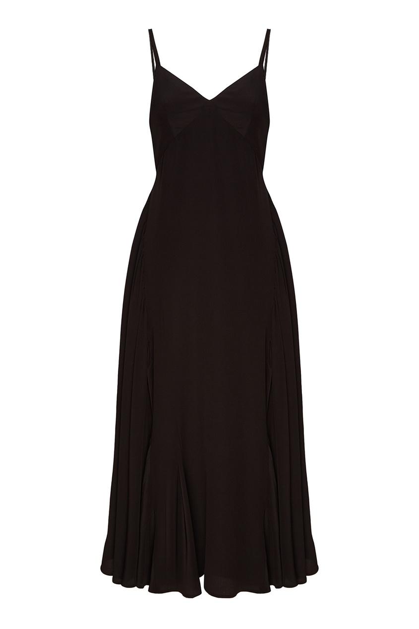 Prada Черное шелковое платье-комбинация платье черное с паетками 44