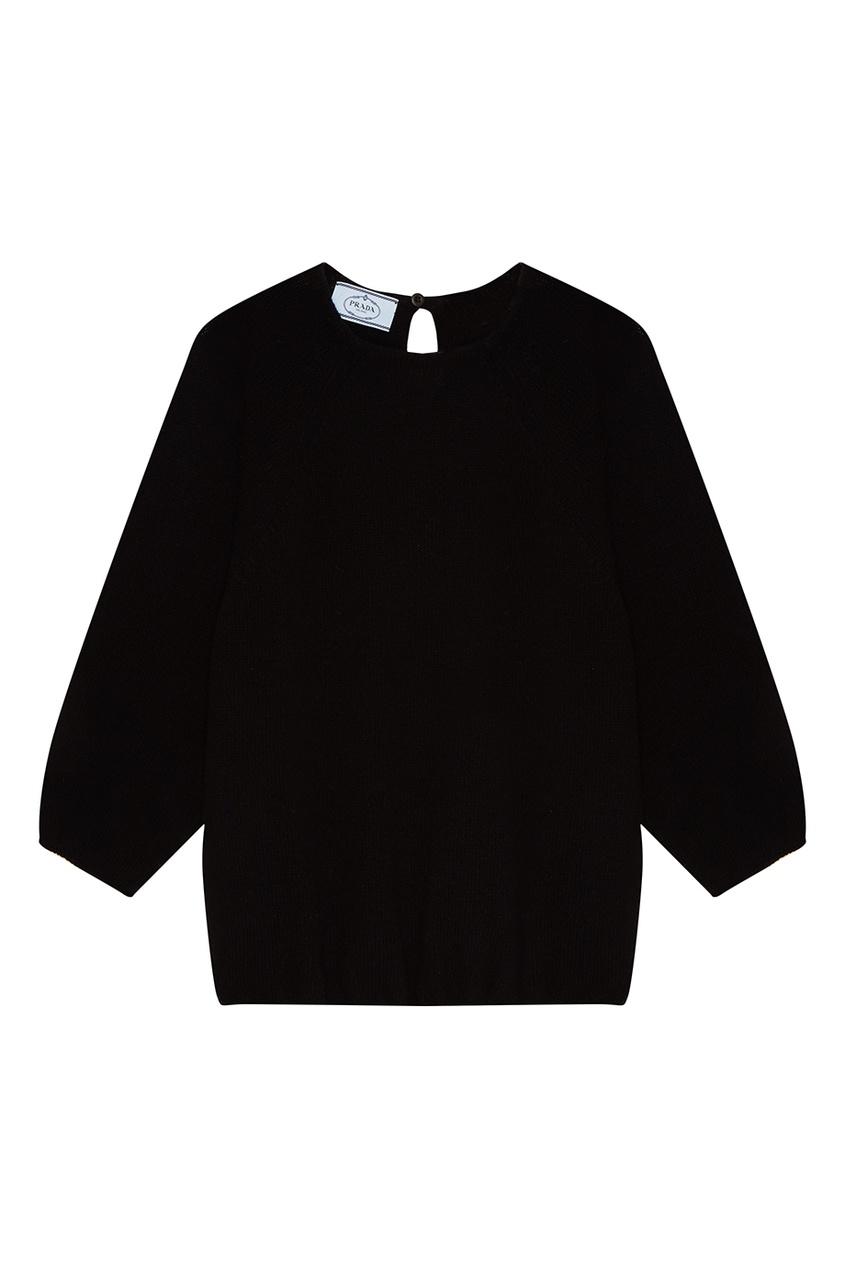 Prada Черный джемпер из шерсти и кашемира