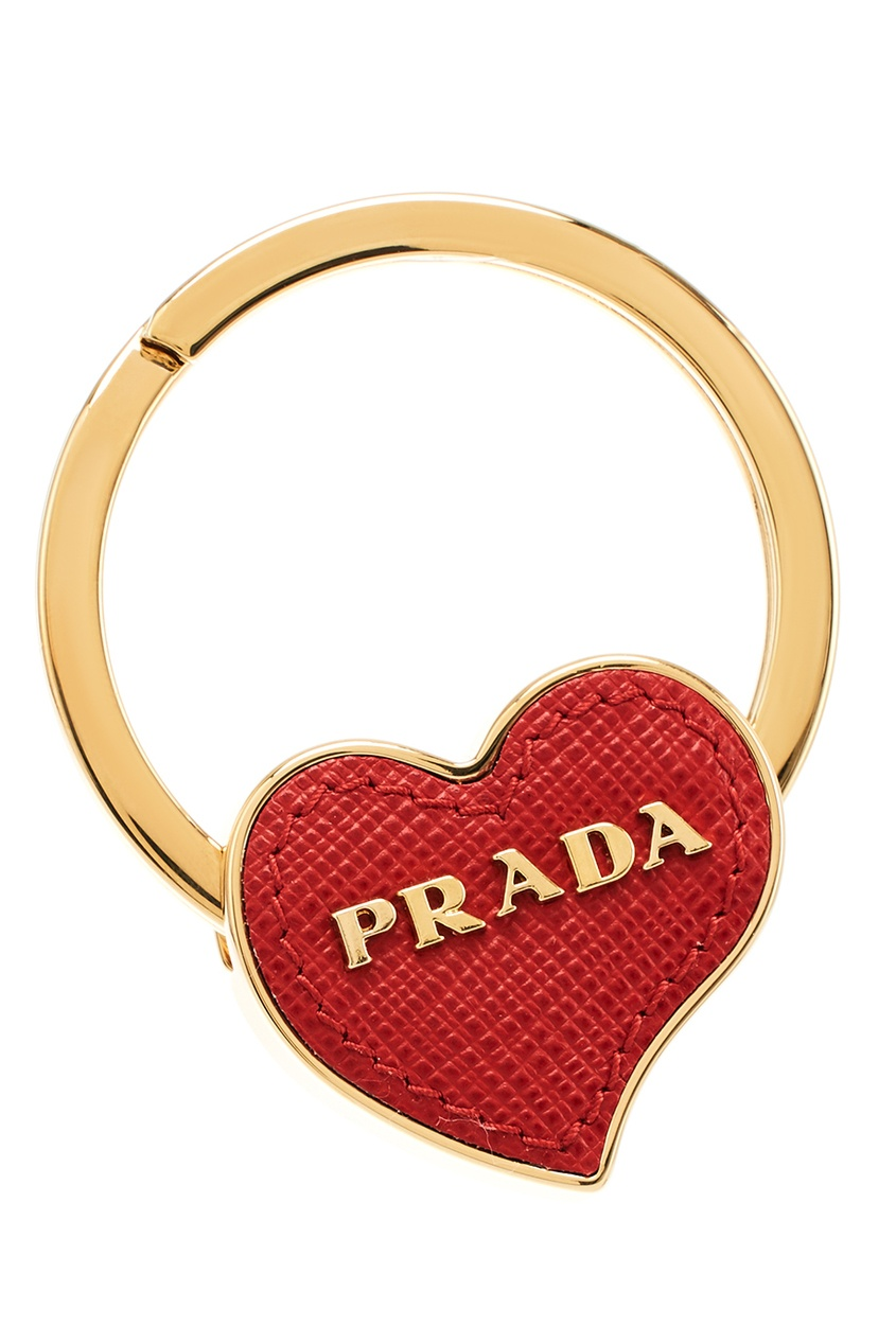 Prada Кольцо для ключей с красным сердцем бидоп таб 10мг 28