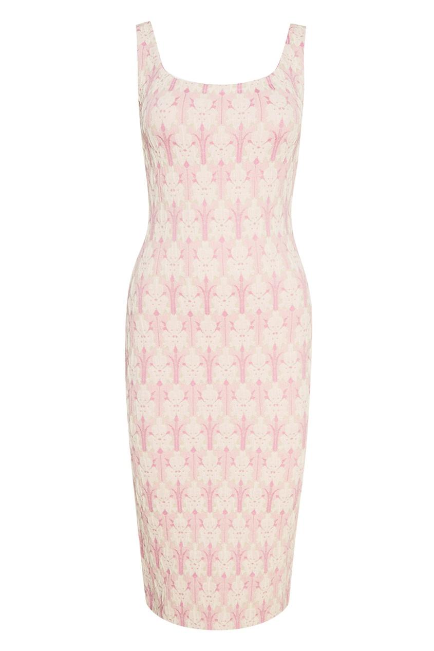 Prada Платье из хлопка с цветочным принтом платье с цветочным принтом