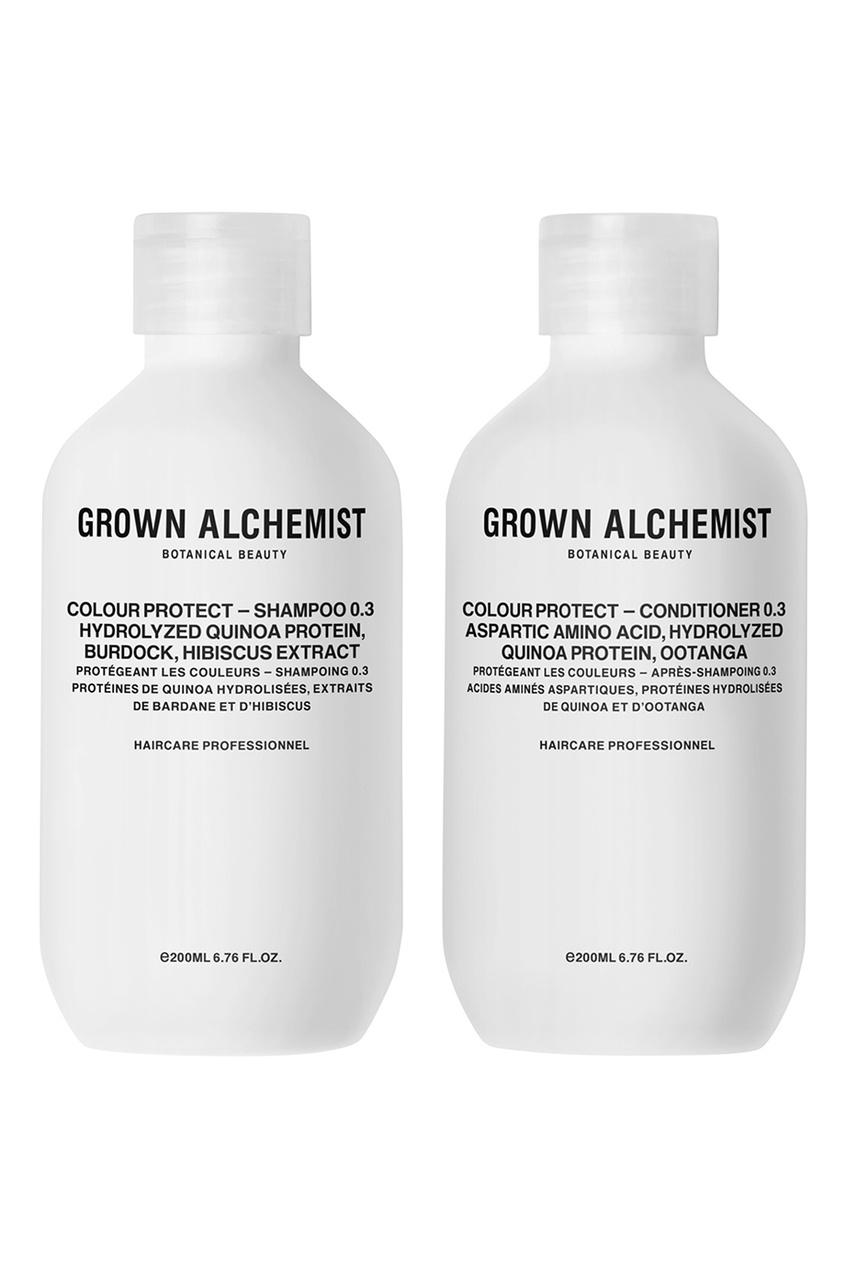 Grown Alchemist Набор для окрашенных волос, 200 ml + 200 ml grown alchemist набор средств для волос 0 1 detox – haircare twin set 2x200ml