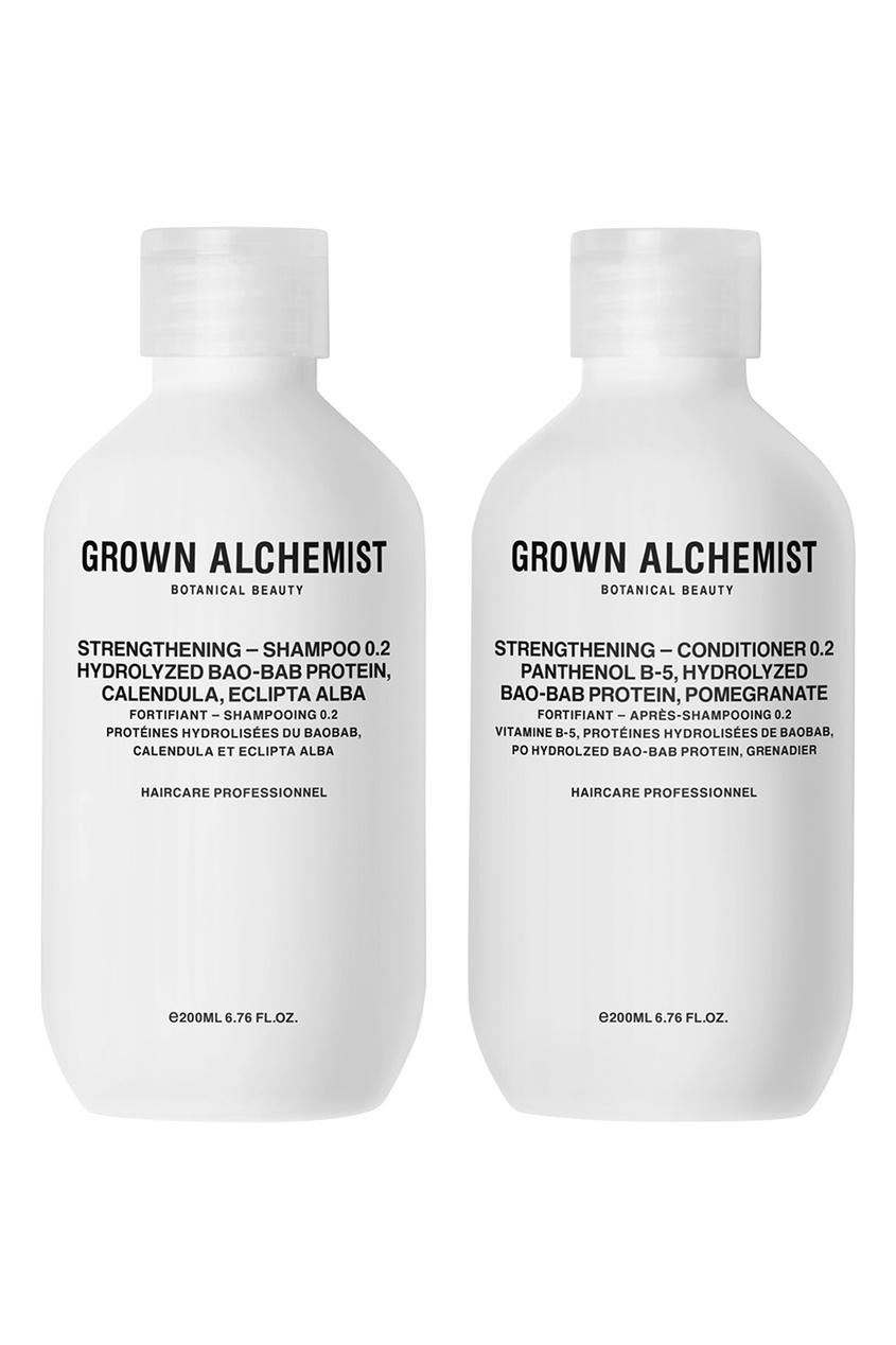 Grown Alchemist Набор для волос укрепляющий, 200 ml + 200 ml grown alchemist набор средств для волос 0 1 detox – haircare twin set 2x200ml