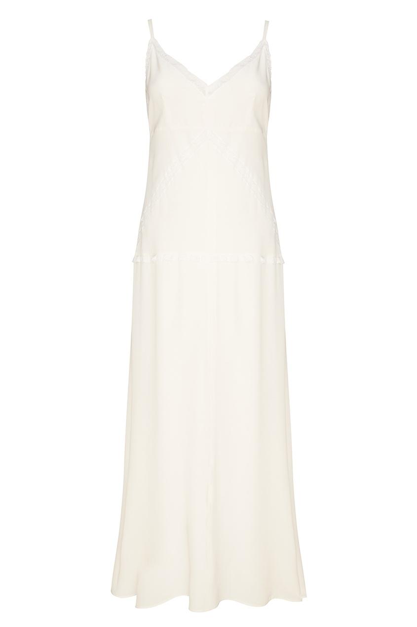 Prada Белое шелковое платье-комбинация anais gillian комбинация