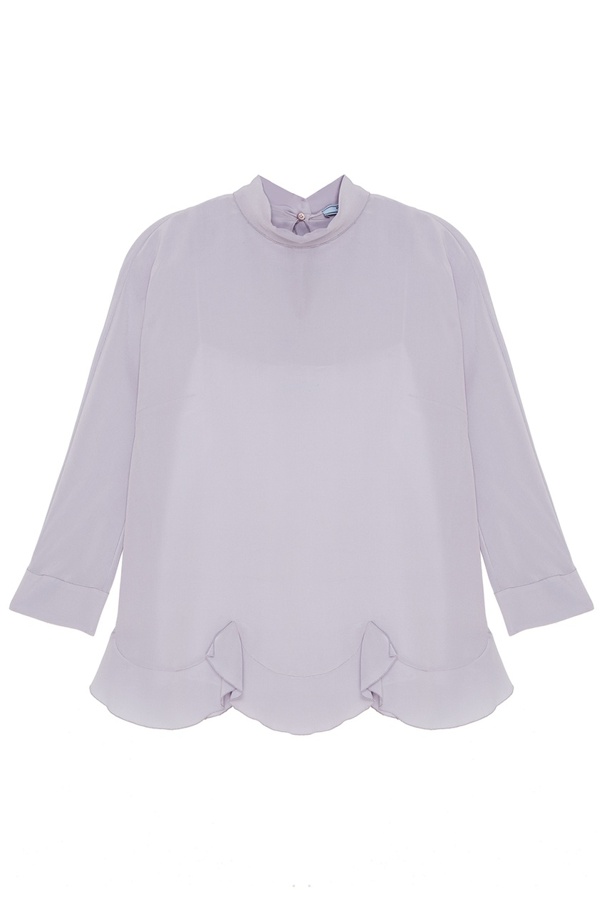 все цены на Prada Голубая шелковая блузка
