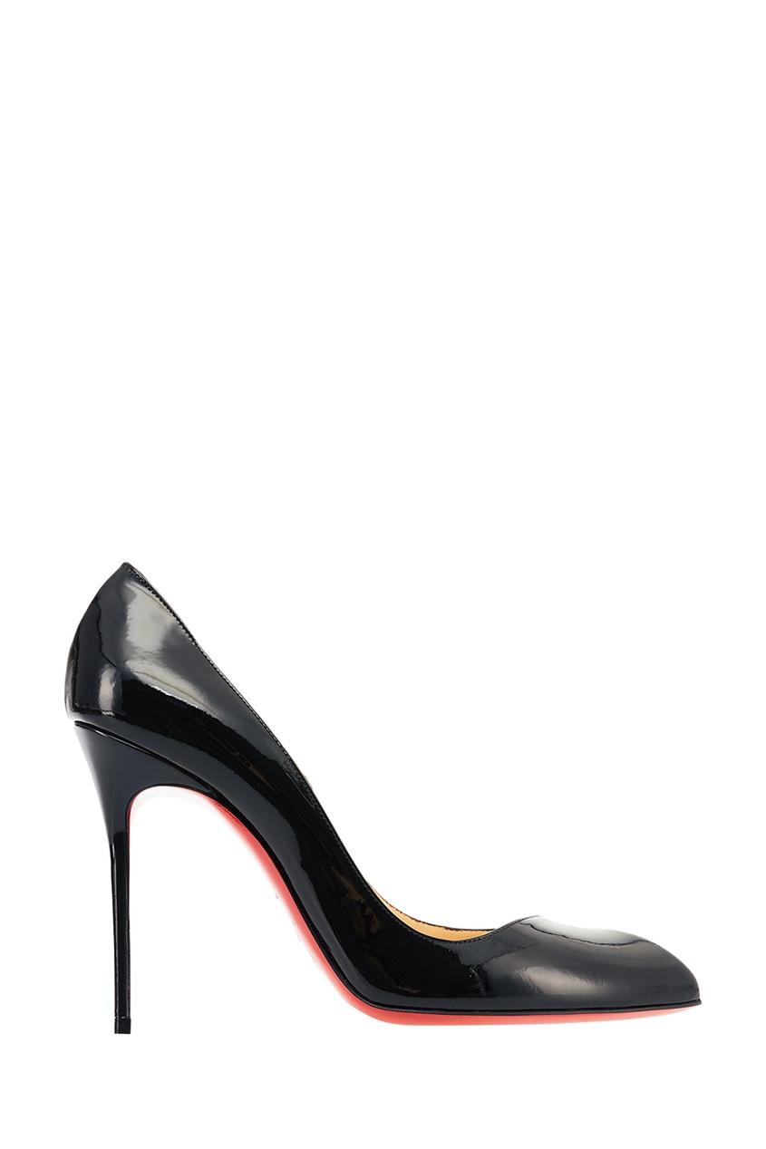 Черные лакированные туфли Corneille 100