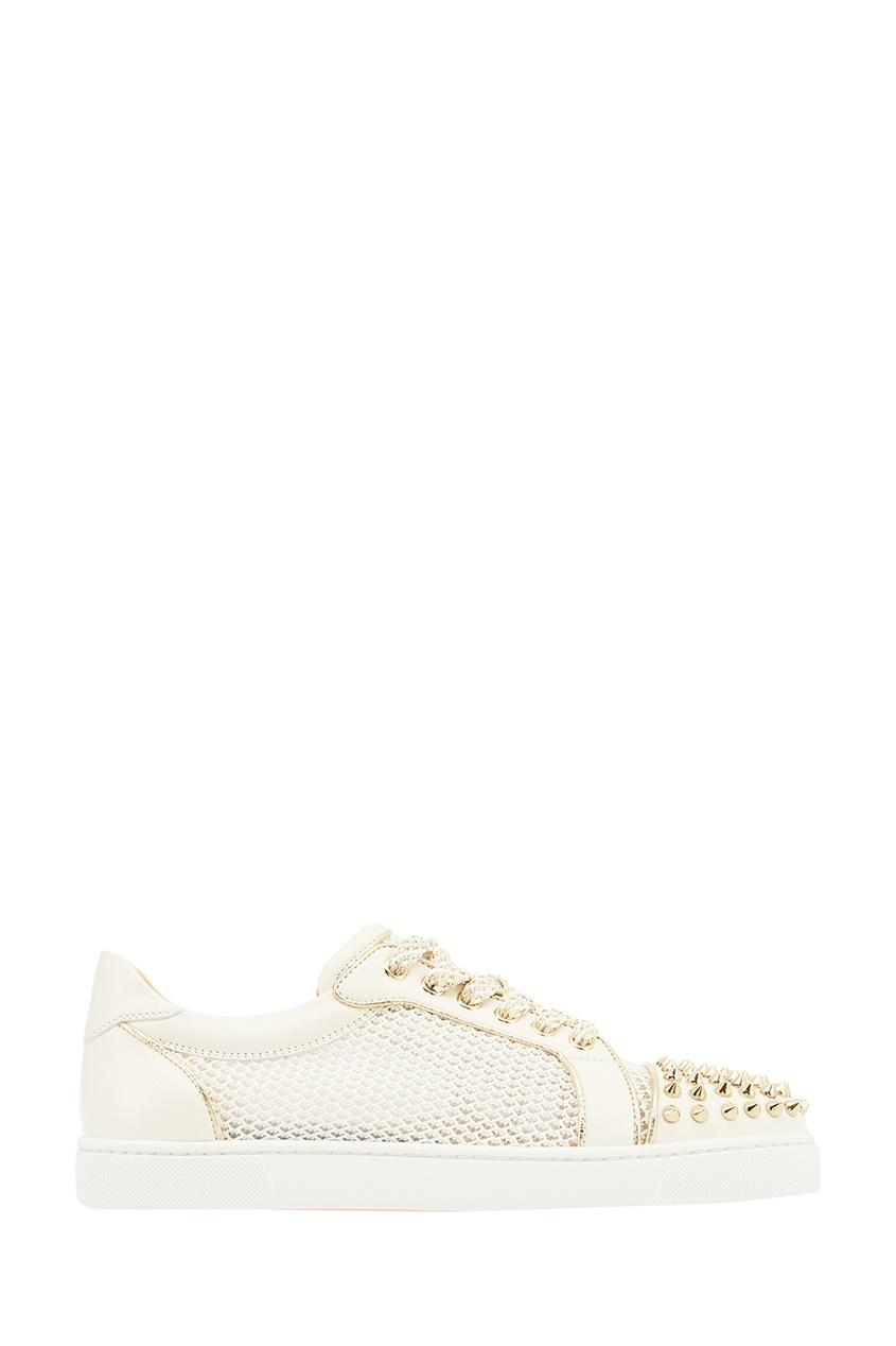 Christian Louboutin Комбинированные кроссовки Vieira Spikes Flat