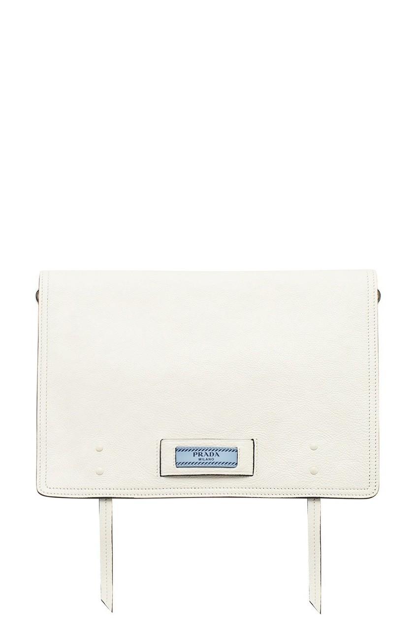 Белая сумка из кожи Etiquette