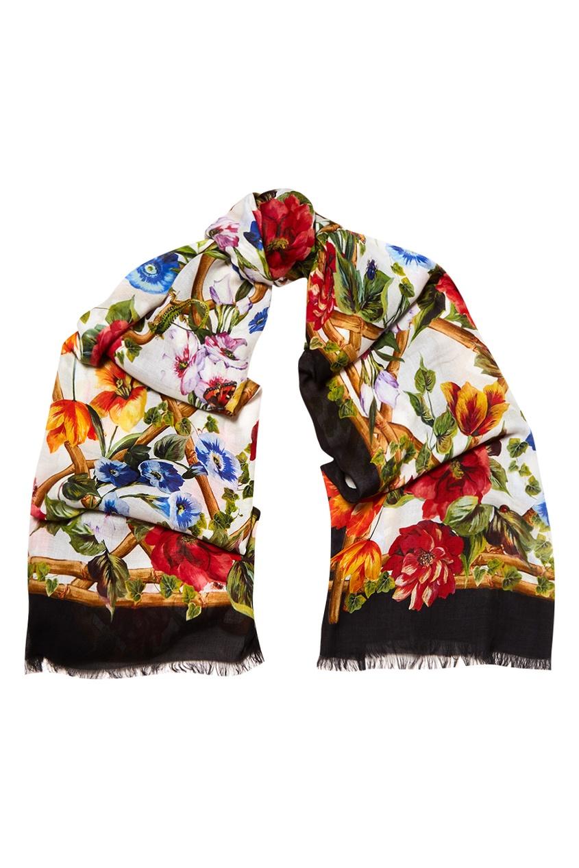 Dolce&Gabbana Платок с цветочным принтом платок с цветочным рисунком