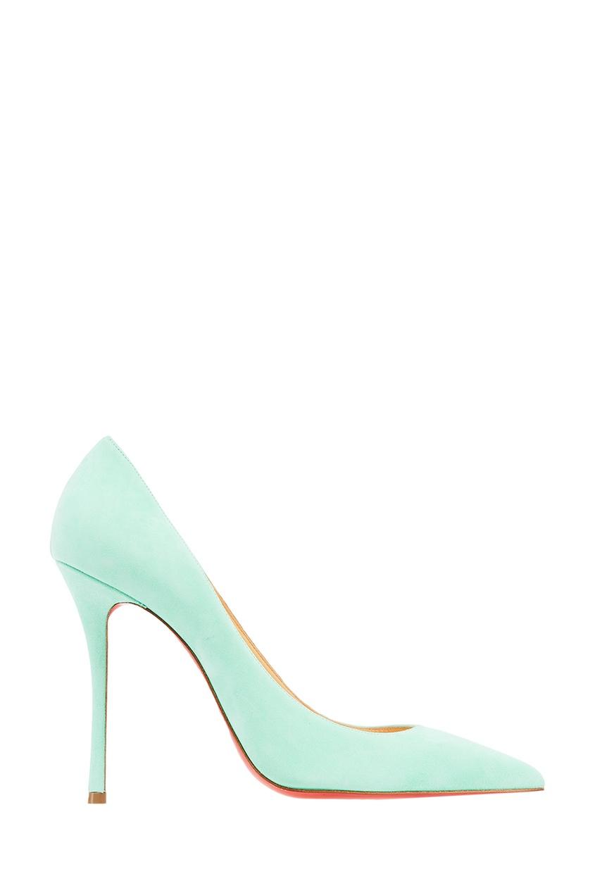 Зеленые замшевые туфли Decoltish 100