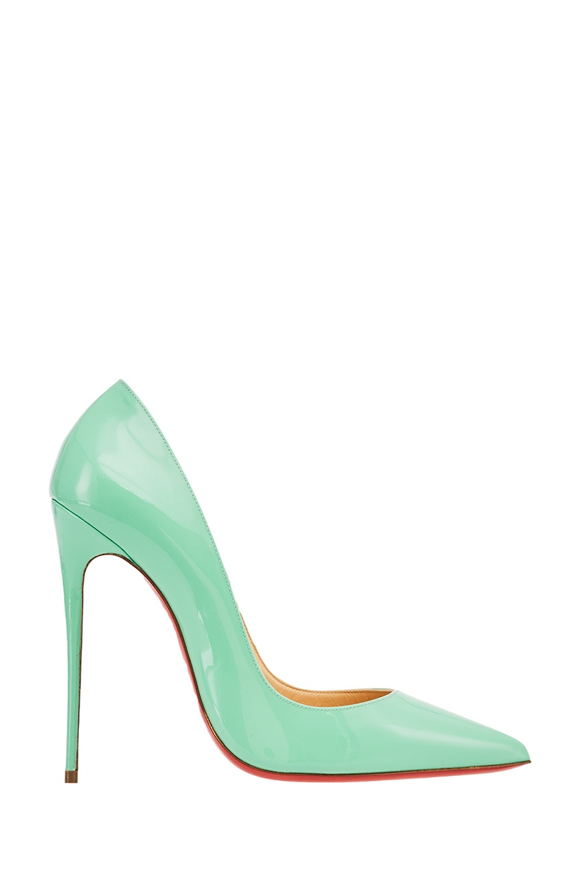 Зеленые лакированные туфли So Kate 120