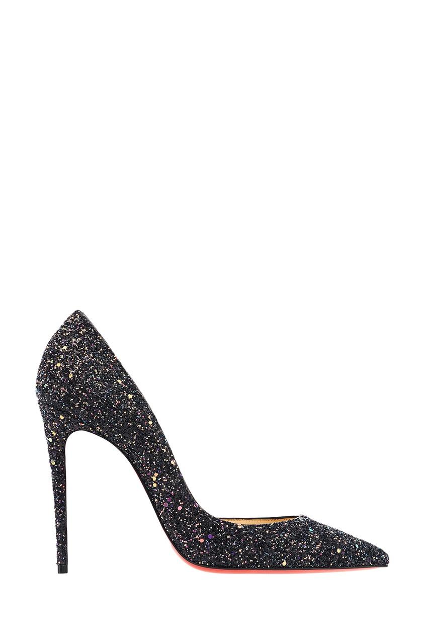 Черные туфли с глиттером Iriza 100